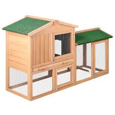 Rabbit Hutch With Large Run Rabbit Hutch Chicken Coop Cage Guinea Pig Ferret House With 2