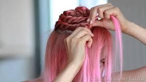 2014 hair tutorial braided flower updo prom wedding hairstyle