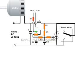 component single phase motor starter circuit forward reverse
