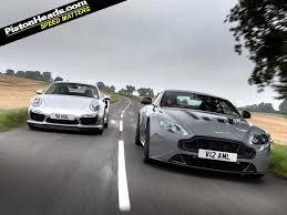 vs porsche 911 turbo aston martin v12 vantage s vs porsche 911 turbo s pistonheads