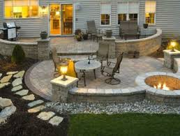 Fire Columns For Patio Roofed Patio With Columns And Fire Pit Outdoor Patio Designs For