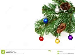new year toys christmas fir tree with cones and new year s toys stock image