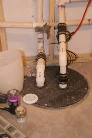 Basement Pump Up System by Sewage Grinder Pit And Pump Installation Plumbing Diy Home