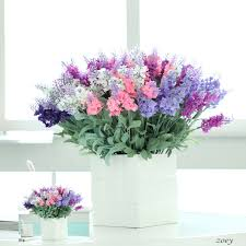 artificial flower arrangements 5 branches 10 heads artificial lavender flower artificial silk
