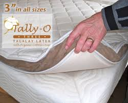 3 inch pure 32 ild talalay latex foam mattress pad with organic