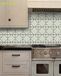 Kitchen Backsplash Decals Sea Salt Moroccan Style Tile Wall Decals Vinyl Stickers Home Decor