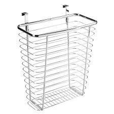 Kitchen Cabinets Baskets by Amazon Com Interdesign Axis Over The Cabinet Wastebasket Trash