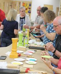 columbus woodcraft hosts furniture paint training session