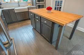 custom wood countertops for narrow kitchen islands