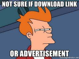 Meme Generator Download - not sure if download link or advertisement futurama fry meme