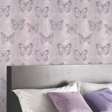 glitter wallpaper with butterflies arthouse midsummer damask pattern floral butterfly motif glitter