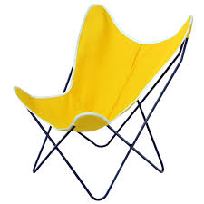 Outdoor Sling Chairs Steele Butterfly Sling Chair Yellow Steele Canvas Basket Corp