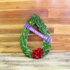 ways we will remember them flower symbols for anzac day florist