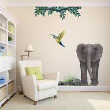 elephant baby wall sticker for jungle themed wall murals