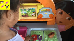 Plastic Toy Kitchen Set Cooking Lunch Dora Explorer Kitchen Set Kids Baking Oven