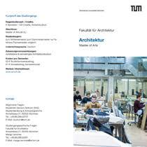 master architektur fakultät für architektur m a architektur