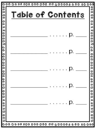 best 25 table of contents template ideas on pinterest contents