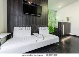Doctor Clinic Interior Design Waiting Room Reception Modern Medical Clinic Stock Photo 489671380