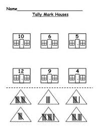 free tally mark and 10 frame assessment first grade math ideas