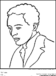 langston hughes coloring pages black history month ginormasource