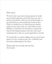 Decline Letter To Bid 10 Bid Rejection Letter Templates Free Premium Templates