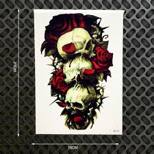 skull arm sleeve skull sleeve tattoo designs for men reviews online shopping