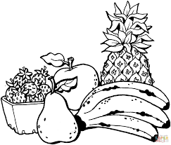 pineapple fruits coloring pages for kids printable free new