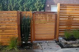fences and gates landscape modern with concrete ferns garden gate