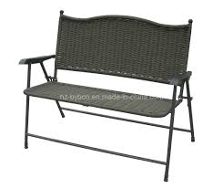 28 wicker patio bench leisuregrow garden furniture madrid