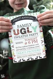 annual family ugly sweater party over the big moon