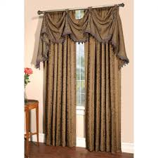 Priscilla Curtains With Attached Valance Attached Valance Curtain Set Minimalistgranny