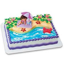 amazon com dora the explorer beach fun decoset cake decoration