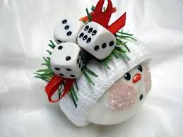 bunco ornament with ribbon by koozieq on etsy