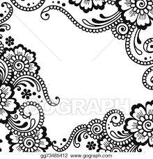 vector stock flower vector ornament corner clipart illustration