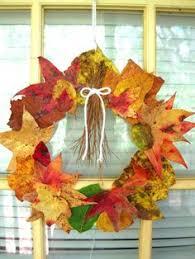 Thanksgiving Wreath Craft Kid Fall Craft Beautiful Leaf Suncatchers Sun Fun Crafts And