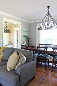 benjamin moore light blue benjamin moore revere pewter in living room with gray sectional