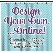 Design Your Own Shower Curtain Personalized Shower Curtains Youcustomizeit