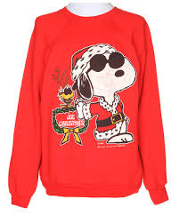 snoopy christmas sweatshirt snoopy christmas jumper xl clothing rokit vintage clothing