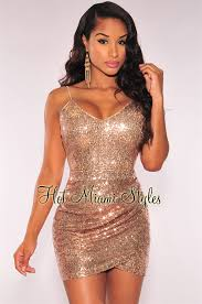 miami styles gold sequins ruched dress