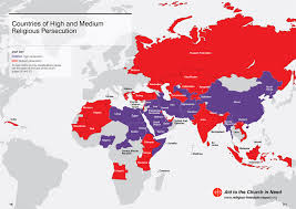 Religion World Map by Religious Persecution The World View
