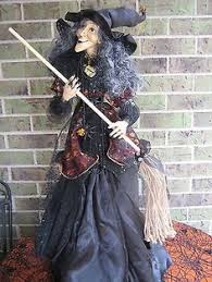 Halloween Costume Witch Large 54 Sitting Witch Halloween Decoration Gg H3216169