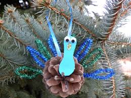 pine cone peacock ornament craft the kid s review