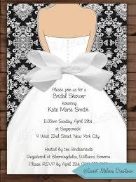 diy bridal shower invitations damask bow bridal shower invitation wedding invitation black