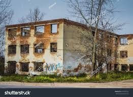 Brick House by Old Crumbling Brick House Abandoned Building Stock Photo 647935552