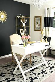 Black Home Office Furniture Home Office Styles Black White And Gold Glam And Feminine Home