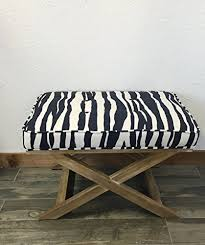 amazon com tufted upholstered x bench stool kate spade