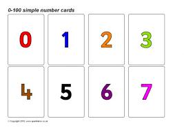 number flash cards primary teaching resources u0026 printables