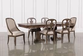 belmont extension pedestal dining table living spaces belmont 7 piece extension dining set signature