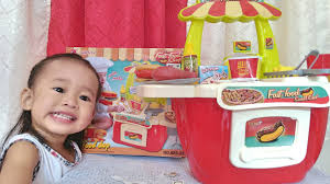 Kitchen Set Toys For Girls Mini Fast Food Shop Playset For Girls Kitchen Educational Toys