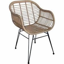 siege plastique fauteuil doma marque hanjel siège de salon façon chaise en rotin